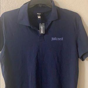 Just Cavalii navy polo shirt size xl NWT